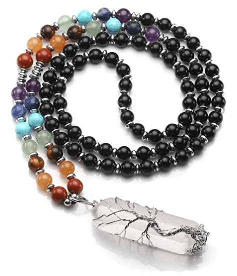 crystals necklace - positive mindset - Meditation Hypnosis