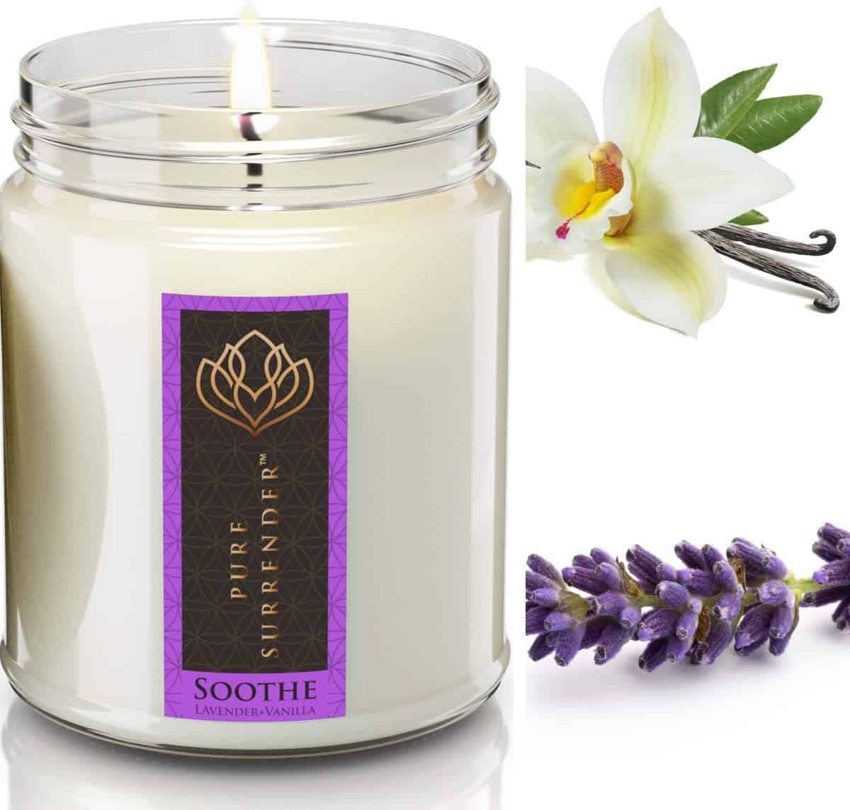lavender candle - positive mindset - Meditation Hypnosis
