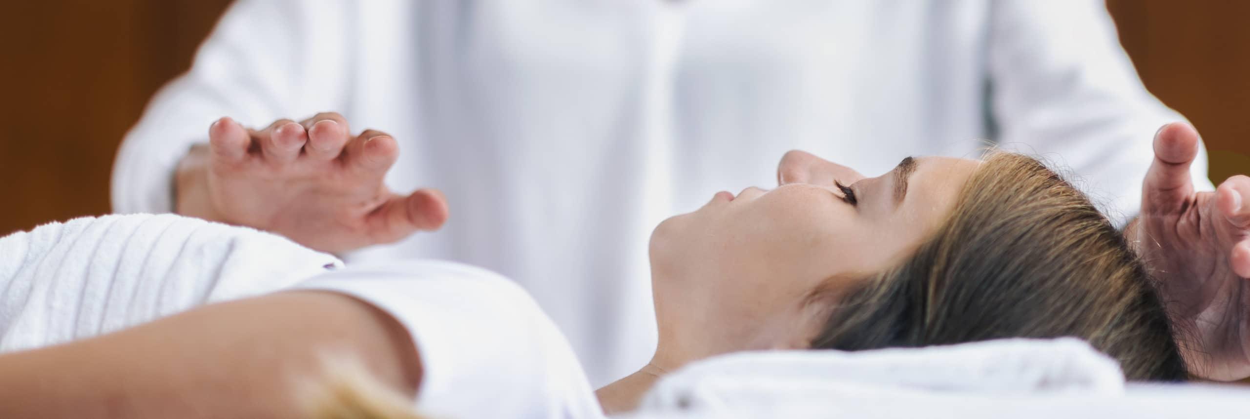 Reiki Healing Session With Teenage Girl