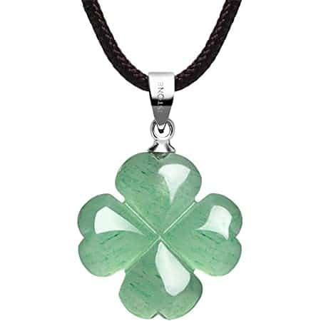 leaf clover necklace - positive mindset - Meditation Hypnosis