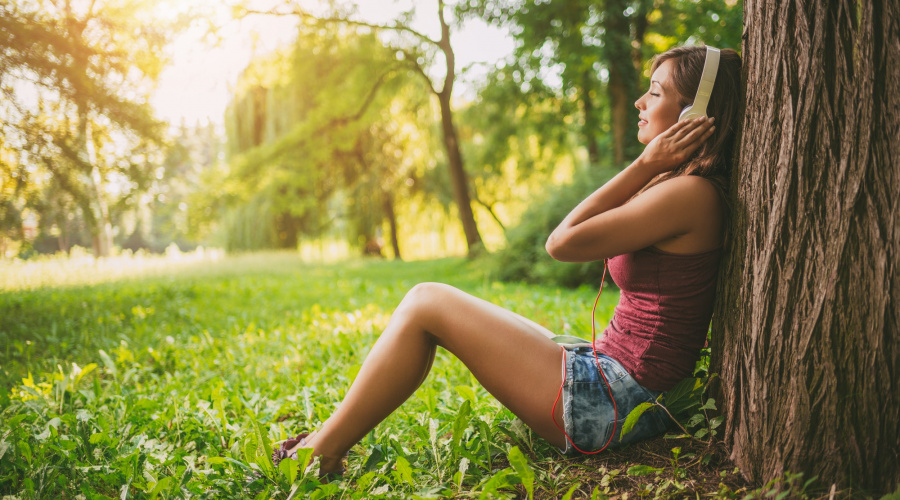 Listening Music In The Nature