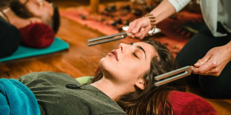 Tuning fork in sound therapy - positive mindset